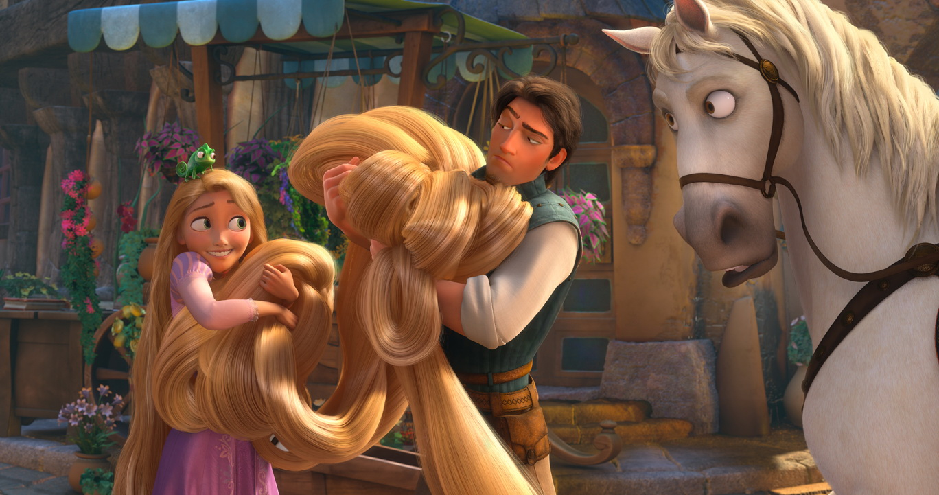"""TANGLED"" (L-R) Pascal, Rapunzel, Flynn, Maximus ©Disney Enterprises, Inc. All Rights Reserved."