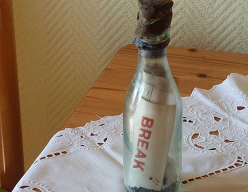 mensagem na garrafa