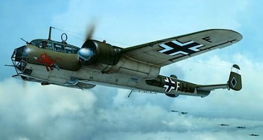 Avião Messerschmitt alemão descrito por Carl Edon