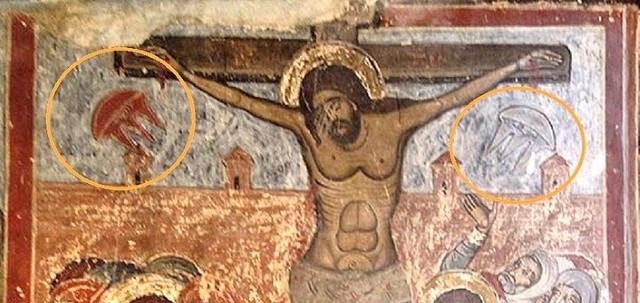Naves alienígenas em pinturas antigas - 2 – A Crucificação de Cristo - Versão 2