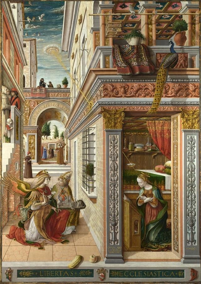 Naves alienígenas em pinturas antigas - 4 – A Anunciação com St. Emidius