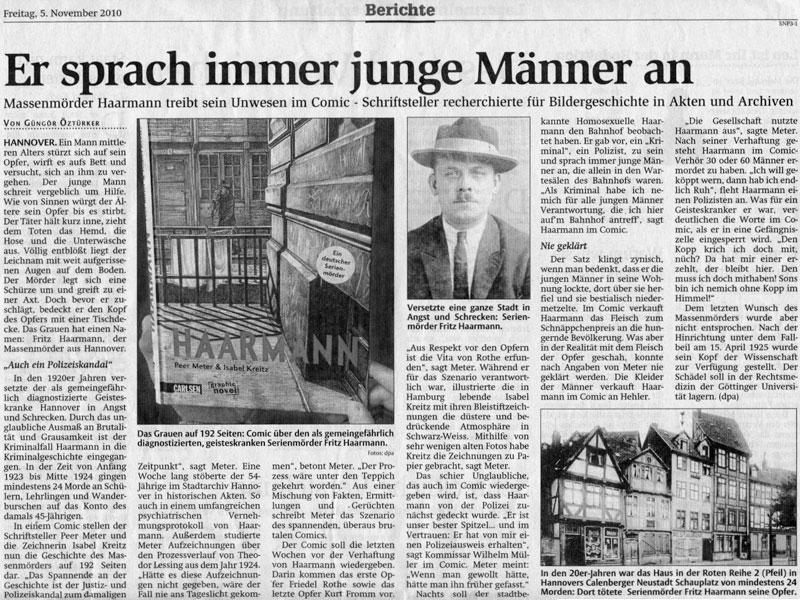 Jornal local com notícias de Fritz