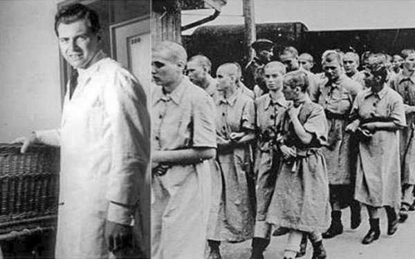 Josef Mengele e suas cobaias.