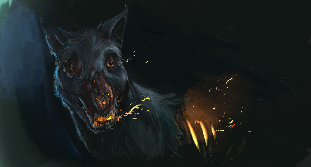 Barghest, cão do inferno