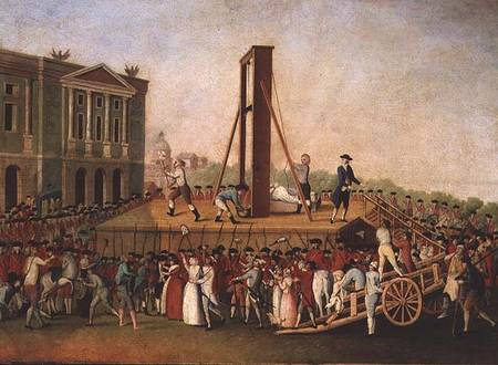 XIR34119 The Execution of Marie-Antoinette (1755-93) 16th Oct 1793 (oil on copper) by Danish School, (18th century) oil on copper Musee de la Ville de Paris, Musee Carnavalet, Paris, France Giraudon Danish, out of copyright